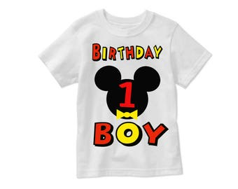 Birthday Boy Mickey Head Number