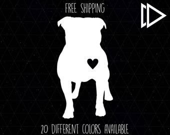 Pitbull Pet Heart Decal