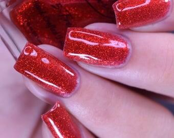"""Dorthy's Slipper"""" Red Glitter Polish - Full size 15ml bottle."""