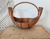 Reed Basket / Boat Basket / Flower Basket
