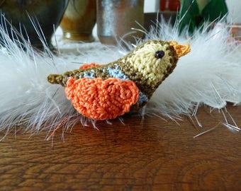 Crochet hanging bird