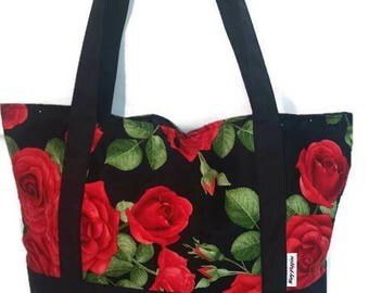Tote bag / Tote / beach bag. Roses