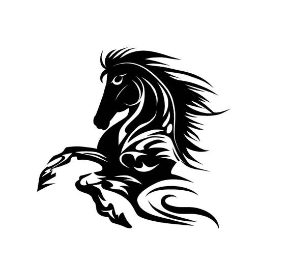 Horse Decal Tribal Horse Decal Horse Flame Decal Car Decals - Flame stikers for car