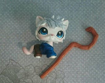 LPS custom white ice cat Jack Frost