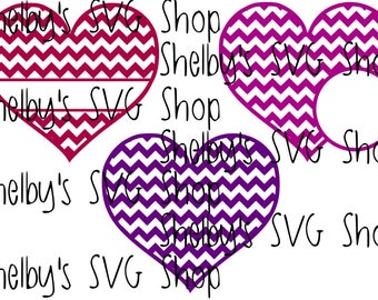 Chevron Heart Set - SVG
