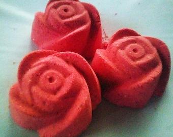 Rose Bath Bombs, Rose Bath Bomb, Valentine's Day Bath Bomb, Valentine's Day Gift, Valentine's Bath Bomb