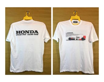 Vintage HONDA F-1 Grand Prix Racing Team T-shirt Large Chest 20.5""
