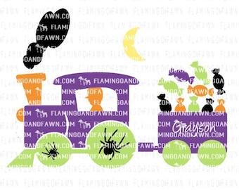 kids halloween svg, halloween svg files, halloween boy svg, train svg files, halloween train svg, spooky svg, boy halloween svg, train svg