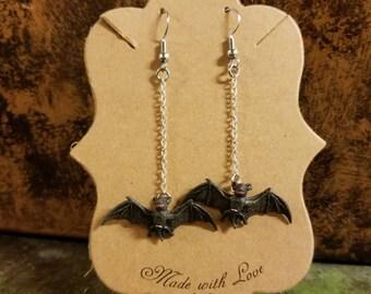 Flying Bat Toy Earrings