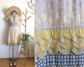Vintage Boho Isabela Capeto Embroidered Dress/ Made in Brazil