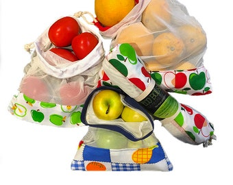 Green bags for fruits and vegetables