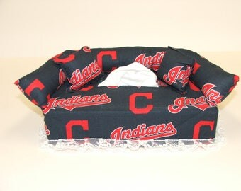 Cleveland Indians MLB Licensed fabric tissue box cover,