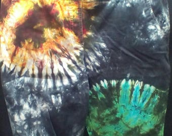 Hand Dyed Tie dye women's size 14 board short Sun and earth design Worthington stretch brand