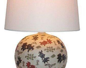Round Goldfish Chinese Table Lamp (Pair)