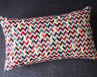 ZIG ZAG pillow cover - Multicolor 50 x 30 cm (geometric design Chevron)