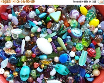 ON SALE 1/4 lb Pound Czech Glass Bead Mix ~ Pressed ~ Fire Polished ~ Table Cut ~ 4 oz