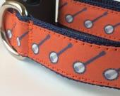 Banjo Dog Collar | Orange Dog Collar | Banjo Dog Harness  & Leash | Dog Collar | Step In Harness | Personalized Dog Collar