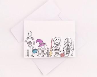 Star Wars Halloween Card / Halloween Card / Cute Halloween Card / Fun Halloween Card / Star Wars Card / Halloween Gift /Nerdy Halloween Card