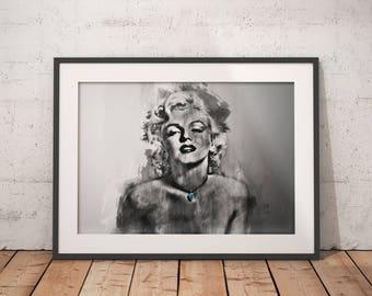 Marilyn Monroe print, Marilyn Monroe poster, wall art, home decor