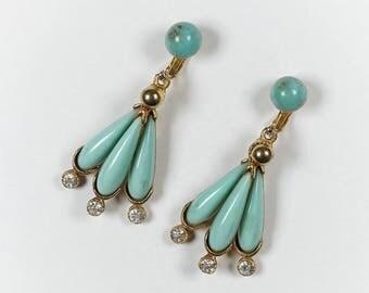 Vintage Statement Chandelier Earrings