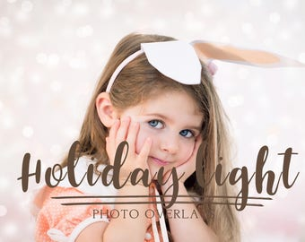 35 Holiday light bokeh overlays with transparent background