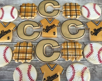 2 doz Baseball Cookies - T-Ball Elementary High School or College
