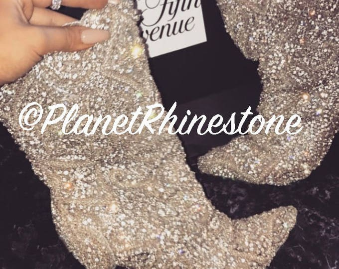 Amber Scholl DIY - Making Rihanna's Clothes *for cheap!*- Rhinestone Material