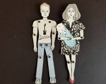 A Personalized swaddled Newborn Baby Paper Doll/s