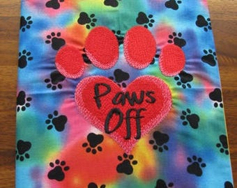 Paws Off Journal, Diary, Notebook Cover - BOOK INCLUDED