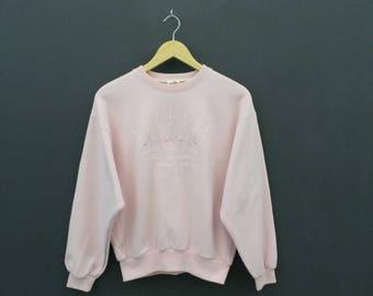 Ellesse Sweatshirt VINTAGE Ellesse Pink Jumper Made In Japan Women's Size L