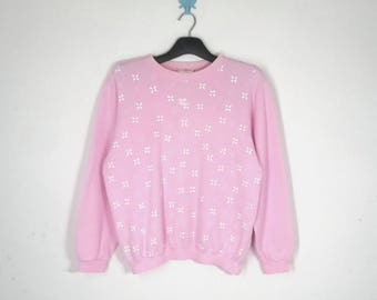 Courreges Sweatshirt VINTAGE Courreges Pink Sweatshirt Women's Size M