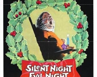 Back to School Sale: BLACK CHRISTMAS aka Silent Night Evil Night Movie Poster Horror Thriller