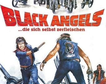 Back to School Sale: THE BLACK ANGELS Movie Poster Hells Angels Biker