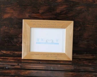 Picture Frame - Wooden - Handwritten Sentiment