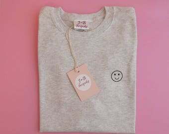 Embroidered Smile Tee