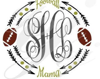 Football Mama Frame SVG EPS DXF Digital Cutting Design Instant Download jpg pdf Gif Vector File
