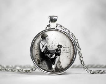 Classic Hollywood, 25mm Silver Pendant, Gifts For Her, Louise Brooks, Hollywood Regency, Vintage Style, 1920s, Silent Era