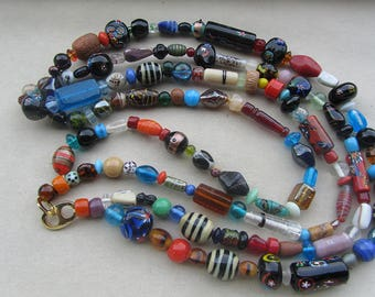 Collana multifilo in vetro di Murano