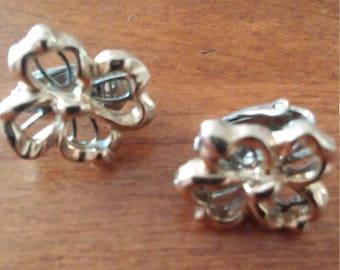 Avon Gold Over Silver Clip Earrings