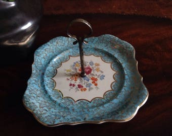 "Vintage ""Alice Blue"" cake/sandwhich plate"