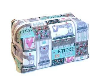 Sewing Storage Bag - Notions Bag - Sewing Bag - Crafting Bag - Sewing Makeup Bag - Cosmetics Bag - Travel Pouch - Teen Gift