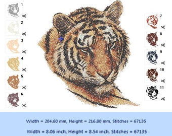 Tiger - embroidery design