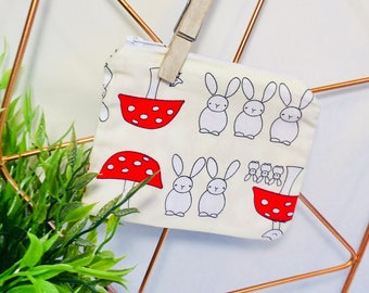Bunny ans Toadstool Coin Purse