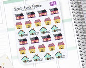 Mom's House Stickers - Planner Stickers - Custody Stickers - Dad Stickers - Mom Stickers - Kid's Schedule Stickers - Icon Stickers - 442