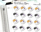Sleep Planner Stickers - Napping Planner Stickers - Cat Planner Stickers - Bed Planner Stickers - Tired Planner Stickers - 1680