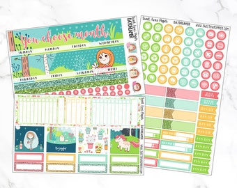 Monthly View Stickers | Daydreamer | Fits Erin Condren LifePlanners | Monthly Spread | Monthly View Kit | Monthly Kit