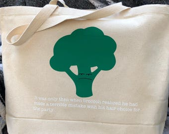 Canvas Grocery Bag ~ Grocery Bag ~ Fun Grocery Bag ~ Reusable Grocery Bag ~ Reusable Shopping Bag ~ Canvas Tote ~ Grocery Tote