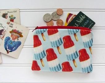 Bomb Pops Novelty Coin Purse, Zipper Bag, Medicine Bag, Pacifier Bag, Small Make Up Bag, Zipper Bag Storage, Food Fabric Wallet