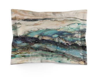 "Pillow Sham ""Sea Scape"""