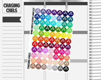 Wine Circle Icons #MCS27 Premium Matte Planner Stickers
